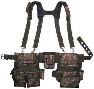 Bucket Boss Camo Mullet Buster Tool Belt and Suspenders