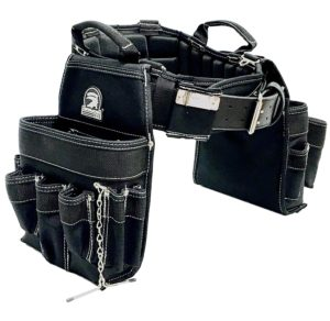 "TradeGear Large Electrician's Combo Belt & Bags - MEASURE WAIST WITH CLOTHING ON FOR MORE ACCURATE FITTING OF BELT (35""-39"") Partnered with Gatorback Contractor Pro"