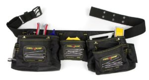 MagnoGrip 002-382 12-Pocket Magnetic Carpenter's Tool Belt, Black