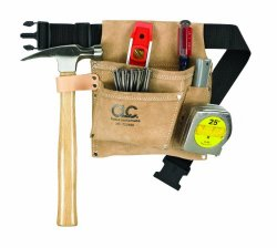 LeatherCraft Suede Nail and Tool Bag and Belt