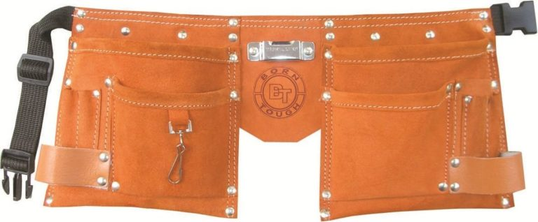 Born Tough 10-Pocket Suede Leather Kids Tool Belt