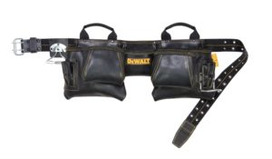 Dewalt 10 Pocket Carpenters Top Grain Leather Tool Belt