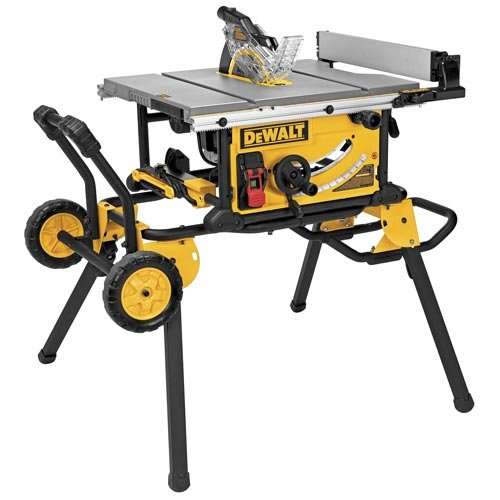 DEWALT DWE7491RS 10-Inch Jobsite Table Saw with 32-1/2- Inch Rip Capacity and Rolling Stand
