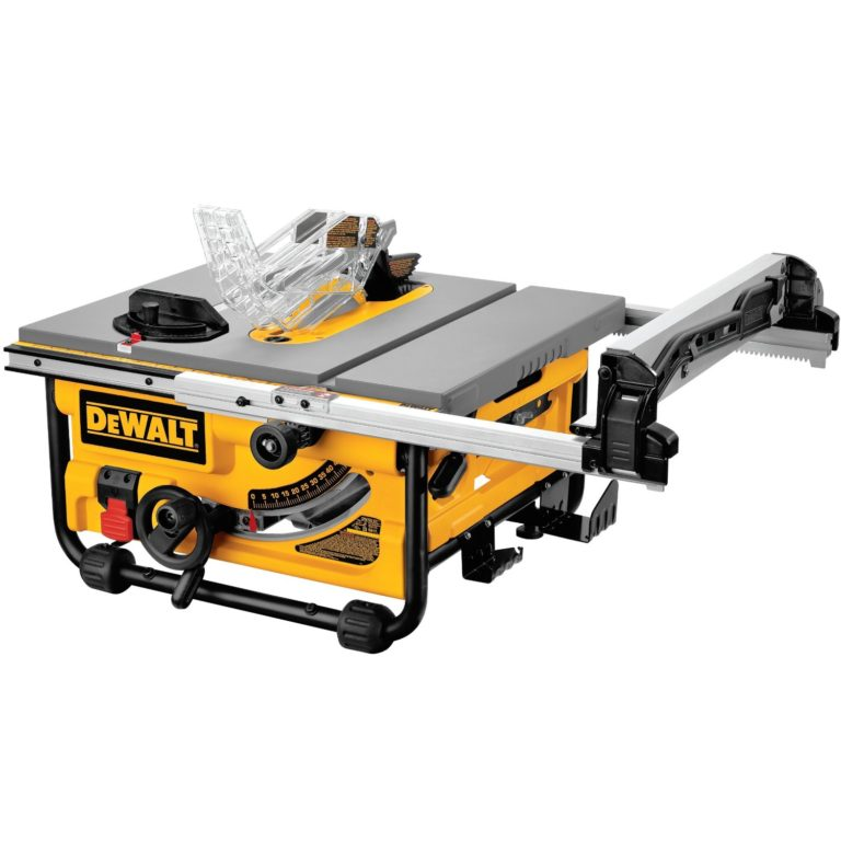 DEWALT DW745 10-Inch Compact Job-Site Table Saw with 20-Inch Max Rip Capacity -120V