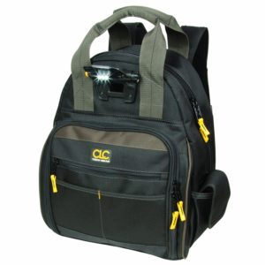 Custom Leathercraft L255 Tech Gear 53 Pocket Lighted Back Pack Electrician