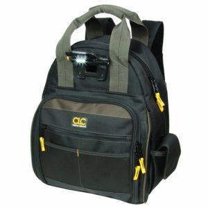 Custom Leathercraft L255 Tech Gear 53 Pocket Lighted Back Pack Electrician